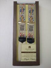 Trafalgar Limited Edition Suspenders Pure Silk Braces NWT Sealed Royal Flush