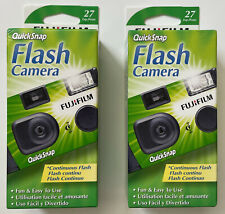 New Listing2 Pcs Fuji Quicksnap Flash 400 One Time Use Disposable 35mm Film Camera 04-2020