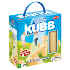 Kubb wooden outdoor game - Knock over the skittles and the King!