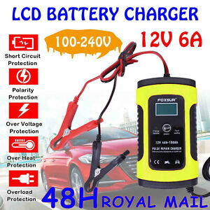 Intelligent 12V Motorcycle Motorbike Car Battery Charger Automatic Smart Trickle
