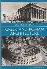 "D.S.ROBERTSON - ""GREEK AND ROMAN ARCHITECTURE"" - 2nd Edn SOFTBACK REPRINT (1992)"