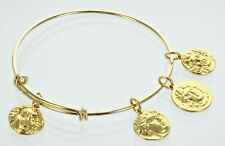 Helios and Apollo, The Sun Gods,  Gold Charm Bangle