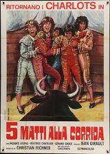 Les CHARLOTS FONT L'ESPAGNE Italian 2F movie poster 39x55 1972 CORRIDA NM