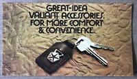 Undated Chrysler Valiant Accessories original Australian sales brochure
