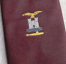 CLUB ASSOCIATION Cravate Albatros Château sous-marin CANADA GREAT BRITAIN VINTAGE 70 s