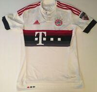 FC Bayern Munich ADIDAS S Small Away JERSEY White T Mobile GPS