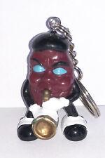 California Raisin Blue Eyes Saxophone Vintage Figurine Plastic Figure Key Chain