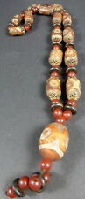 NEWLY CREATED HIMALAYAN AGATE 3 EYE dZi BEAD necklace from NEPAL FORTUNE HEALTH.