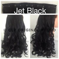 UK Real Long Clip In Hair Extensions Full Head One Piece Curly Like Human Hair