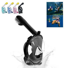 New Full Face Mask Swimming Dry Diving Goggle Snorkel Scuba Anti-Fog Glass USA