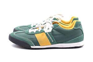 SKECHERS Herren Sneakers EUR 41 UK 7 Grün Leder Wildleder Halbschuhe