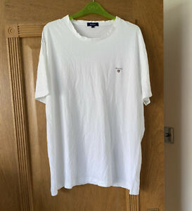 Gant Mens White T Shirt Top Size 2XL