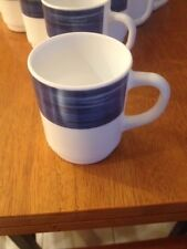 Arcoroc Coffee Cups - Lot of 16 - Professional Quality - Brushed Blue Jean