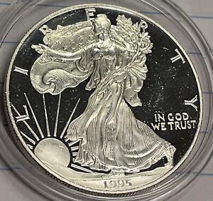 1995 W Proof American Silver Eagle Dollar 1995W