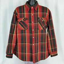 Big Mac Red Plaid Lumberjack Flannel Shirt Quilted Jacket Mens XL Vtg USA Made