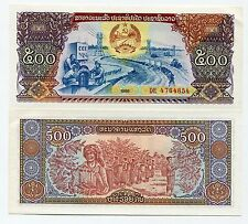 Lao Laos 500 Kip ND 1988 P 31 XF Money Banknote x 10 piece lot