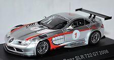 MERCEDES BENZ SLR McLaren 722 GT #1 Ludwig 2008 plata plata metálico 1:43