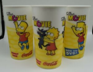 The Simpsons Movie Collectible Cups x 3 - Donut King Promo