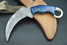 Karambit XL Tactical Knife CS MEGA Messer Damascus Jagdmesser Damastmesser #154