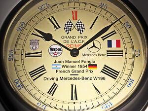 Juan Manuel Fangio Commemorative Wall Clock Winner Reims Grand Prix 1954