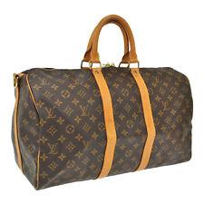 AUTHENTIC LOUIS VUITTON KEEPALL 45 BANDOULIERE HAND BAG PURSE MONOGRAM bs1844