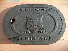 "LSU MIKE THE TIGER Cast Iron Water Meter Box Cover OEM 6X10"" LOUISIANA ORIGINAL"