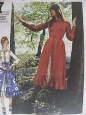 Mary Quant London Pattern Butterick 6107 Blouse Ruffled A-Line Skirt Size 10 Vtg