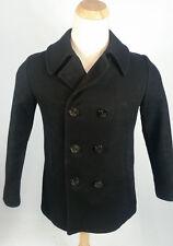 Womens FOX KNAPP Miltary Vtg Wool Overcoat Pea Coat Peacoat 9/10 Size S USA