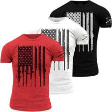 Grunt Estilo Rifle Bandera Cuello Redondo Camiseta