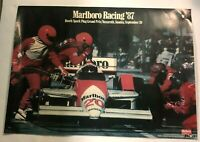 1987 Marlboro Racing 87 Poster Bosch Grand Prix Nazareth PA Vintage 28 X 22