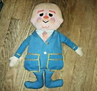 Vintage Mattel Captain Kangaroo Pull String Doll Plush Stuffed Toy 1967