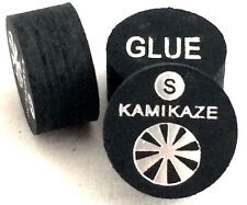 Kamikaze Black Layered Cue Tips  14 MM ( Soft) (4 Tips)  Fast Shipping....