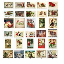 Personalized Return Address Vintage Christmas Labels Buy 3 get 1 free (csl1)
