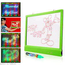 LED Illuminated Dry Erase Marker Message Board: In Style Advertise Business Etc