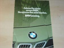 18123) BMW 3er 7er Leasing Prospekt 1981