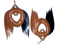Falconry Bird Lure for training, Wing Lure, Standard Size,Leather, Black/Brown