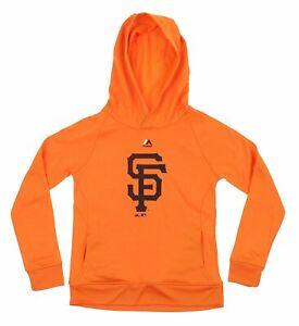 Majestic MLB Youth San Francisco Giants Fleece Performance Hoodie, Orange