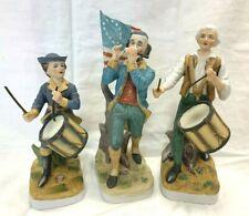 Lefton Spirit of 76 Revolutionary War Patriots Fife & Drummers Figures Set of 3
