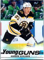 2019-20 Upper Deck Hockey Young Guns Rookie Card #248 Karson Kuhlman Bruins