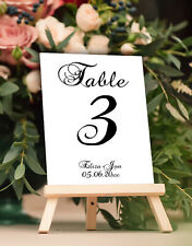 Customized Wedding Table Numbers Calligraphy Design Centerpieces Place Card 1-25