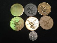 Ultra Rare 6 Medal Great Eastern Numismatic Association GENA Set-Trial Strikes?