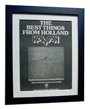 KAYAK+Royal Red Bouncer+RARE ORIGINAL 1975 POSTER AD+FRAMED+EXPRESS+GLOBAL SHIP