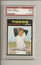1971 Topps Fred Scherman PSA 7 Detroit Tigers #316 Baseball Card
