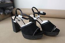 topshop lucia diamante platform sandals - black - uk8