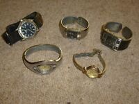 5 Old Watches for Spare Parts (One Watch Still Working)