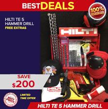 Hilti Te 5 Hammer Drill Nice Condition Free Bits Extras Quick Ship