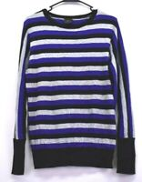 Worthington Women's Large Long Sleeve Crew Neckline Striped Cotton Blend Sweater