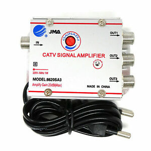 AMPLIFICATORE ANTENNA 8620SA3 SPLITTER TV 3 OUT Regolabile SDOPPIATORE DVB-T UHF