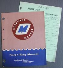 Original 1958-1959 Outboard Marine Piston Ring Manual & Replacement Data Sheet