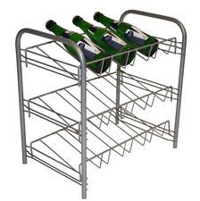 Metal Estantería Estante de pie Botellero Para Vino la cocina